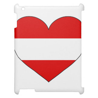 オーストリアの旗のシンプル iPadケース