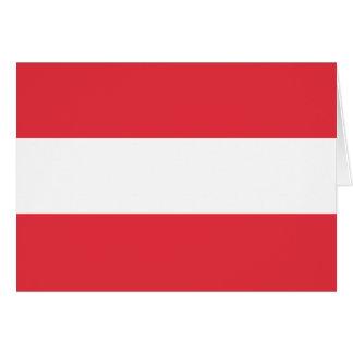 オーストリアの旗 カード