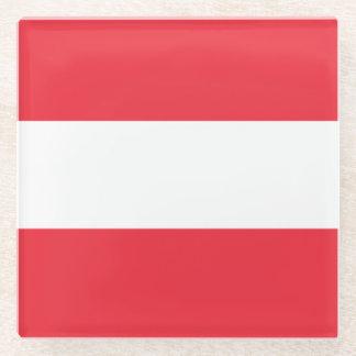 オーストリアの旗 ガラスコースター