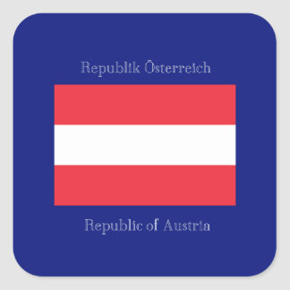 オーストリアの旗 スクエアシール