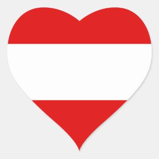 オーストリアの旗 ハートシール