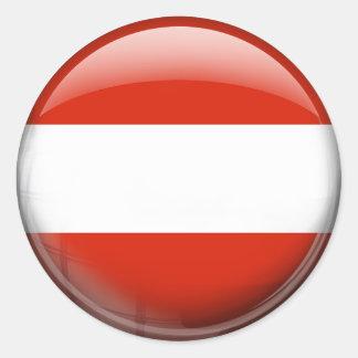 オーストリアの旗 ラウンドシール