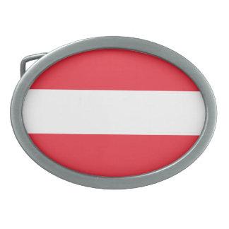 オーストリアの旗 卵形バックル