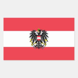 オーストリアの旗 長方形シール