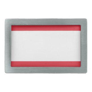 オーストリアの旗 長方形ベルトバックル