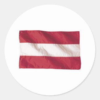 オーストリアの波状の旗 ラウンドシール