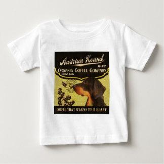 オーストリアの猟犬のブランド- Organic Coffee Company ベビーTシャツ