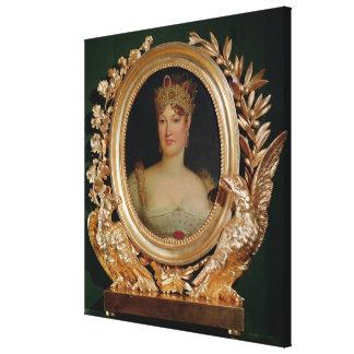 オーストリアの皇后Marieルイーズのポートレート キャンバスプリント