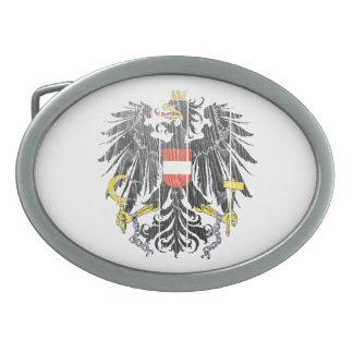 オーストリアの紋章付き外衣 卵形バックル