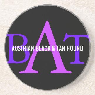オーストリアの黒およびタンの猟犬のモノグラム コースター