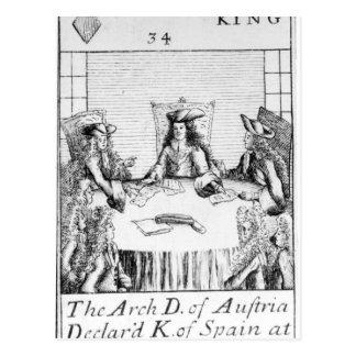 オーストリアのArchdukeはスペインの王を宣言しました 葉書き