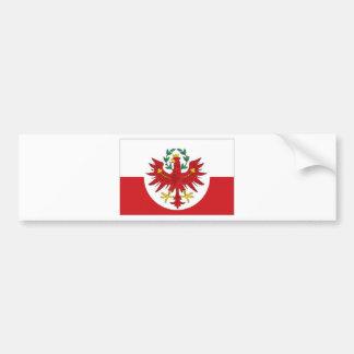 オーストリアチロルの旗 バンパーステッカー