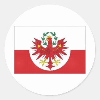 オーストリアチロルの旗 ラウンドシール