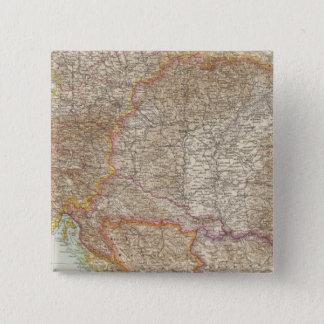 オーストリアハンガリー帝国地図 5.1CM 正方形バッジ