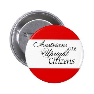 オーストリア人は直立した市民です 5.7CM 丸型バッジ