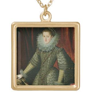 オーストリア1609年のマルガリータ女王(キャンバスの油) ゴールドプレートネックレス