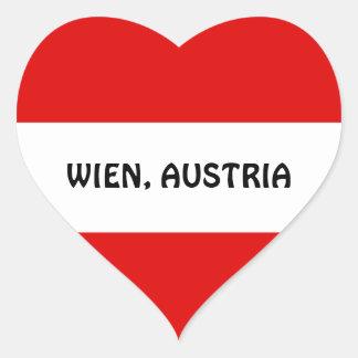 オーストリア: オーストリアの旗--Wien ハートシール
