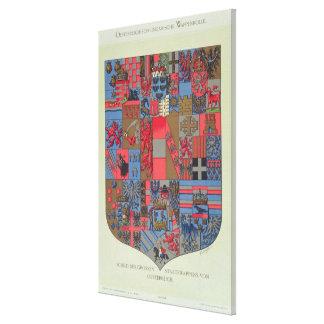 オーストリア・ハンガリー帝国の紋章付き外衣 キャンバスプリント