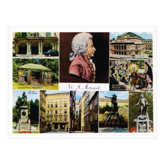 オーストリア、モーツァルトの場所はモーツァルトにつながりました ポストカード