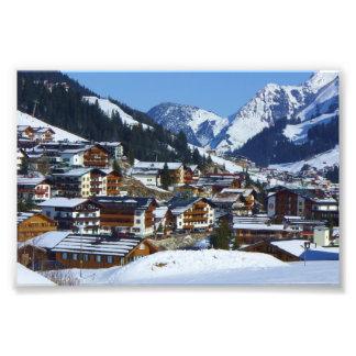 オーストリア-写真のプリントのスキー場Lech フォトプリント