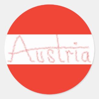 オーストリア-旗および原稿 ラウンドシール