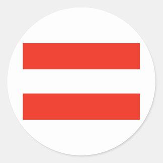 オーストリア-旗/Österreich - Flagge ラウンドシール