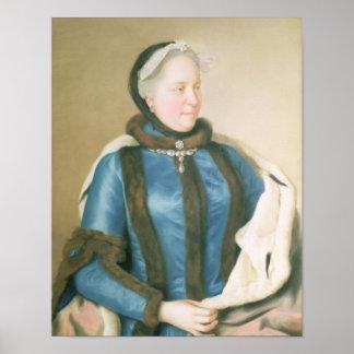 オーストリア、c.1770の皇后マリアTheresa ポスター