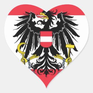 オーストリア- Flagge Österreichsの旗 ハートシール
