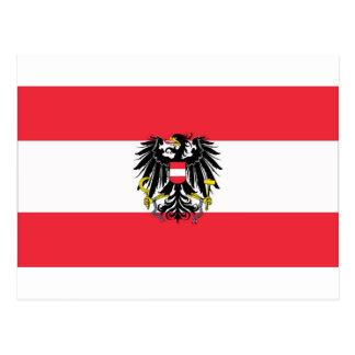 オーストリア- Flagge Österreichsの旗 ポストカード