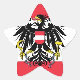 オーストリア- Flagge Österreichsの旗 星シール