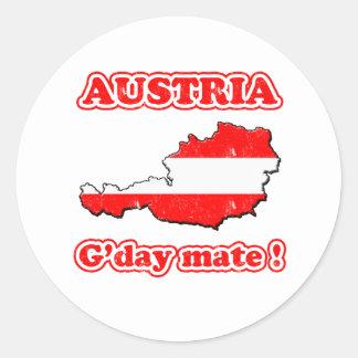オーストリア- G'dayの仲間! ラウンドシール