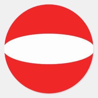 オーストリアFisheyeの旗のステッカー ラウンドシール