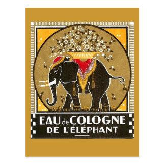オーデコロンdeのl'elephant郵便はがき ポストカード