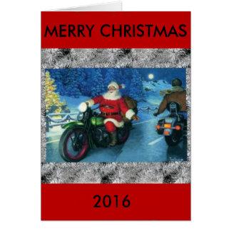 オートバイのクリスマスカード2016年 カード