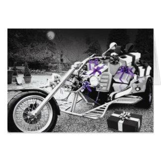 オートバイのクリスマスカード カード