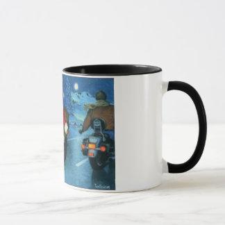 オートバイのコーヒー・マグのサンタ マグカップ