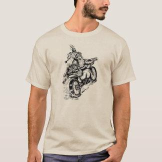 オートバイのスエットシャツのサンタ Tシャツ