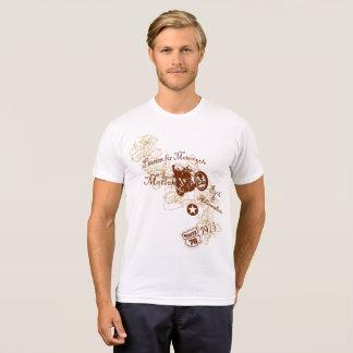 オートバイのデザインのためのヴィンテージのスタイルの情熱 Tシャツ