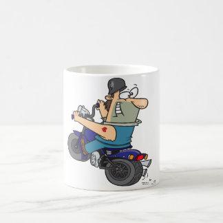 オートバイのマグの漫画の人 コーヒーマグカップ