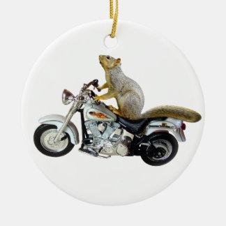 オートバイのリス セラミックオーナメント
