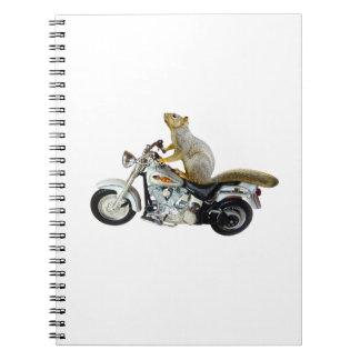 オートバイのリス ノートブック