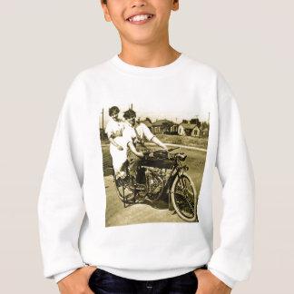 オートバイのヴィンテージの愛デートすることの勝利 スウェットシャツ