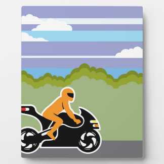 オートバイの乗馬 フォトプラーク