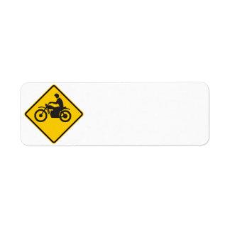 オートバイの交通ハイウェーの印 ラベル