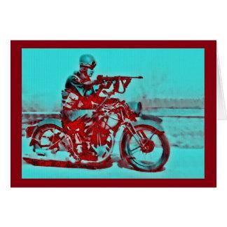 オートバイの兵士WWI-WWII カード