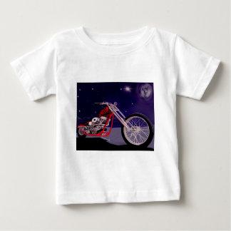 オートバイの月光の芸術 ベビーTシャツ