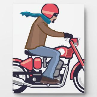 オートバイの男 フォトプラーク
