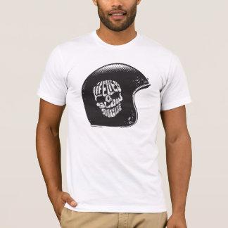 オートバイの空虚のタイポグラフィ Tシャツ