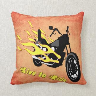 -オートバイの装飾用クッションに乗るために住んで下さい クッション