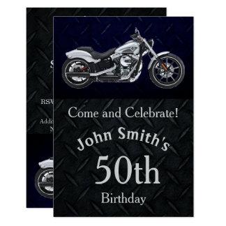オートバイの誕生会の人の招待状 カード